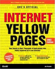 Cover of: Que's Official Internet Yellow Pages