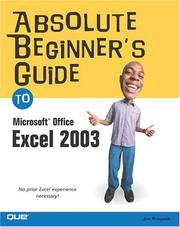 Cover of: Absolute Beginner's Guide to Microsoft Office Excel 2003