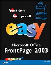 Easy Microsoft FrontPage 2003 by Ned Snell
