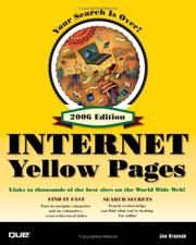 Cover of: Que's Official Internet Yellow Pages, 2006 Edition (Que's Official Internet Yellow Pages)