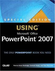 Cover of: Special Edition Using Microsoft(R) Office PowerPoint 2007