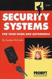 Cover of: Security Systems for Your Home and Automobile