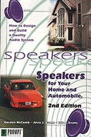 Cover of: Speakers for Your Home and Auto