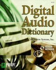 Cover of: Digital Audio Dictionary | Inc Cool Breeze Systems