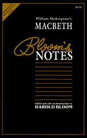 Cover of: William Shakespeare's Macbeth (Contemporary Literary Views) | Harold Bloom