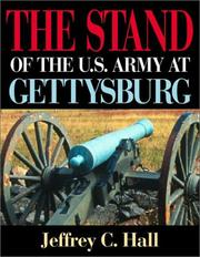 Cover of: The stand of the U.S. Army at Gettysburg