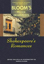 Cover of: Shakespeare's Romances: Comprehensive Research and Study Guide (Bloom's Major Dramatist)
