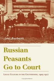 Cover of: Russian Peasants Go to Court | Jane Burbank