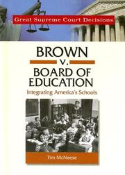 Cover of: Brown V. Board of Education (Great Supreme Court Decisions)