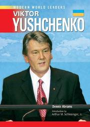 Cover of: Viktor Yushchenko (Modern World Leaders)