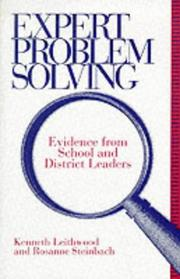 Cover of: Expert problem solving | Kenneth A. Leithwood