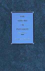 Cover of: The theory of interest by Stephen G. Kellison