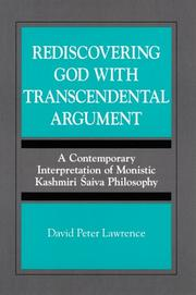 Cover of: Rediscovering God with transcendental argument