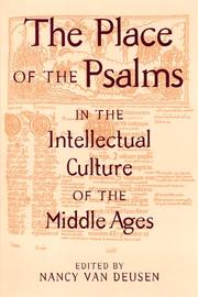 The Place of the Psalms in the Intellectual Culture of the Middle Ages (S U N Y Series in Medieval Studies)
