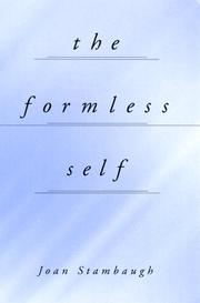 Cover of: The formless self