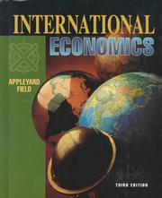 International economics by Dennis R. Appleyard