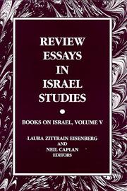 Cover of: Review Essays in Israel Studies |