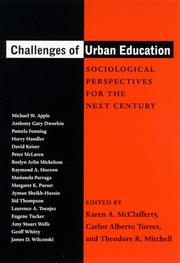Cover of: Challenges of urban education