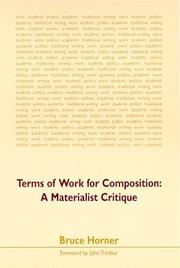 Cover of: Terms of work for composition