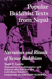 Cover of: Popular Buddhist Texts from Nepal | Todd Thornton Lewis
