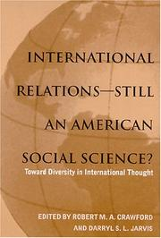 Cover of: International relations--still an American social science?
