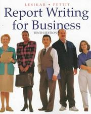 Cover of: Report writing for business