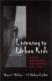 Cover of: Listening to Urban Kids | Bruce L. Wilson