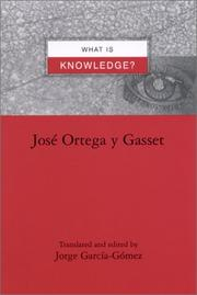 Cover of: What Is Knowledge? (Suny Series in Latin American and Iberian Thought and Culture)