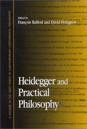 Cover of: Heidegger and Practical Philosophy (Suny Series in Contemporary Continental Philosophy)