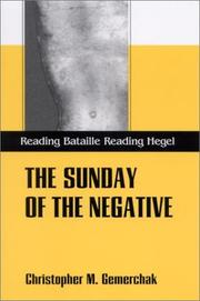 Cover of: The Sunday of the Negative | Christopher M. Gemerchak