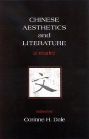 Cover of: Chinese Aesthetics and Literature (Asian Studies Development) | Corinne H. Dale