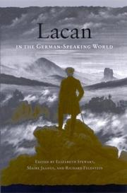 Cover of: Lacan in the German-speaking world