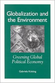 Cover of: Globalization and the Environment