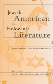 Cover of: Jewish American and Holocaust Literature |