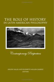 Cover of: The Role Of History In Latin American Philosophy |