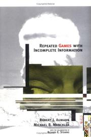 Cover of: Repeated games with incomplete information