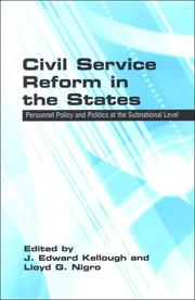 Cover of: Civil service reform in the states |