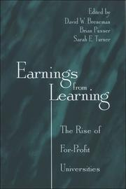 Cover of: Earnings from learning |