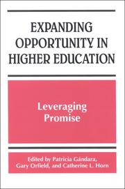 Cover of: Expanding Opportunity in Higher Education |