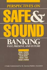 Cover of: Perspectives on safe & sound banking