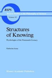 Cover of: Structures of knowing