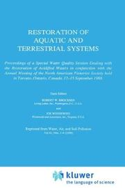 Cover of: Restoration of Aquatic and Terrestrial Systems |