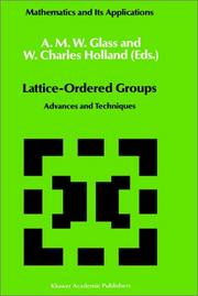 Cover of: Lattice-ordered groups |