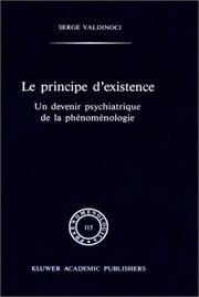 Cover of: Le principe d'existence