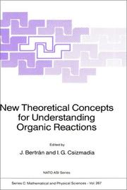 Cover of: New Theoretical Concepts for Understanding Organic Reactions (NATO Science Series C:) |