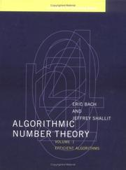 Algorithmic Number Theory, Volume 1: Efficient Algorithms