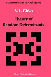 Cover of: Theory of random determinants