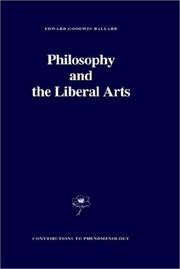Cover of: Philosophy and the liberal arts