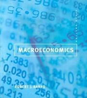 Cover of: Macroeconomics | Barro, Robert J.