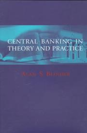 Cover of: Central banking in theory and practice | Alan S. Blinder